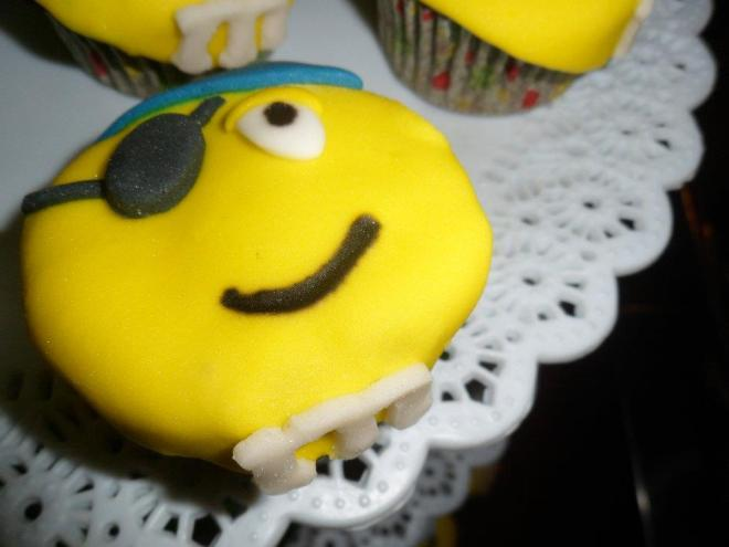 Yellow M&M Cupcake