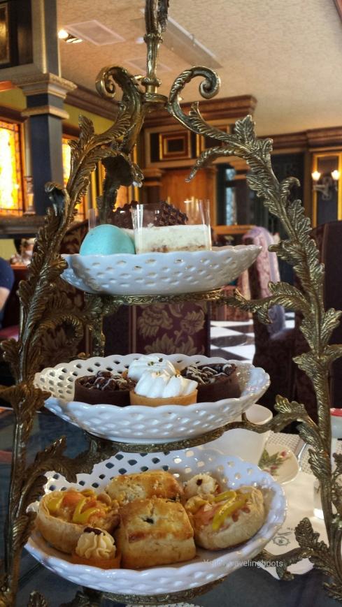 three tier tea set