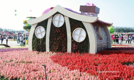 Sea of Flower Festival house